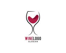 Wine , Bar Logo Vector Simple Design Template