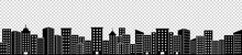 Silhouette Of Town, Skyscraper, Architecture Buildings, Vector Illustration