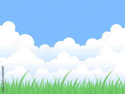 Obraz na plátne 青空と草原の風景