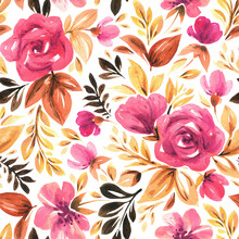 Seamless Floral Pattern. Fabric And Packaging Design.
