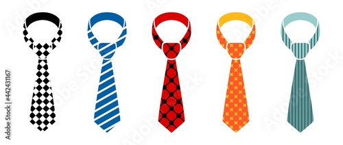 Foto variety of tie vector collection