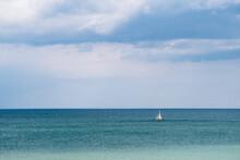 Little Boat In The Sea Water