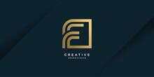 Letter F Logo Template With Unique Style Premium Vector Part 1