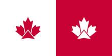 Maple Leaf Logo. Canada Leaves Vector Icon. Symbol Illustration.