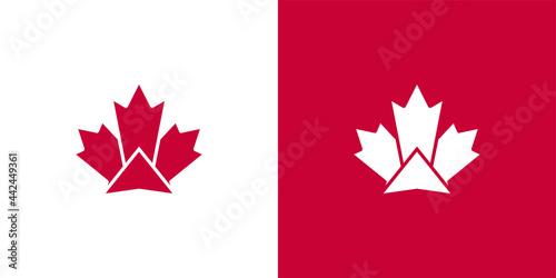 Fotografia Maple Leaf Logo. Canada leaves Vector Icon. Symbol Illustration.