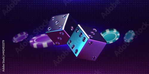 Billede på lærred Casino background