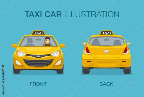 Canvas-taulu Isolated taxi cab
