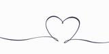 Hand drawn drawing heart love symbol
