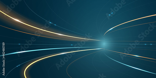 Abstract speed line background poster with dynamic. technology network Vector illustration.