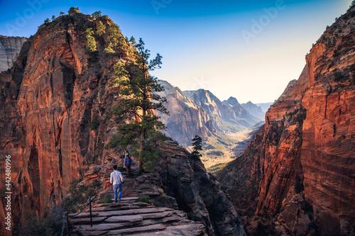 Obraz na płótnie Angels Landing Trail, Zion National Park, Utah