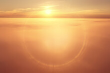 Sunset Sky Gradient Abstract Sun Light Nature Background