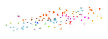 A Flock Of Colorful Birds. Vector Illustration