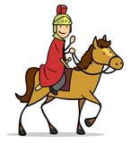 Fototapeta Na sufit - Sankt Martin auf Pferd mit rotem Mantel