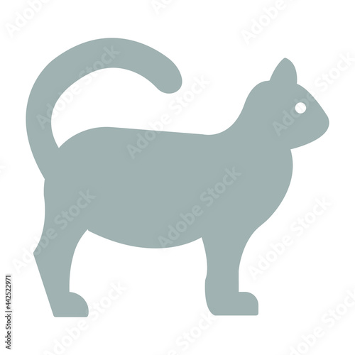 Fototapeta Cat Vector icon which can easily modify or edit