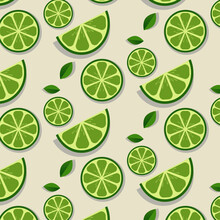 Lemon And Leaf  Pattern