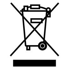 Caution No Waste Symbol Sign Isolate On White Background