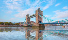 Panorama Of The Tower Bridge, Tower Of London On Thames River - London, United Kingdom