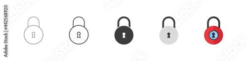 Obraz na plátne Locks vector icons