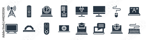 Fotografia computer filled icons