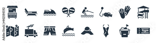 Fotografie, Obraz summer filled icons