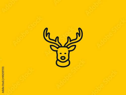 Foto Cute deer head logo modern graphic design illustration icon design
