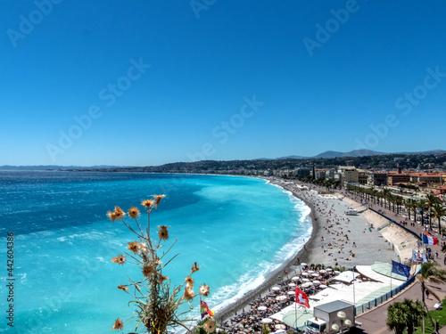 Valokuvatapetti Panorama sur la baie des anges à Nice depuis la colline  du château