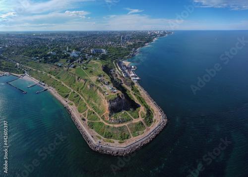 Tela Odessa Ukraine seashore cliff panoramic view