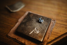 Blue Gem For Accessory On Table