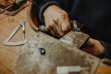 Anonymous Jeweler Making Metal Ornament