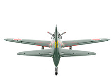 Old Military Aircraft In White Background Rear View