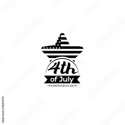 Fotografie, Obraz Happy 4th of July vector illustration