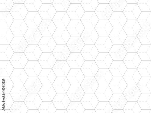 Fotografia 六角形の幾何学模様の背景