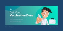 Get Your Vaccination Done Cover Page Design.