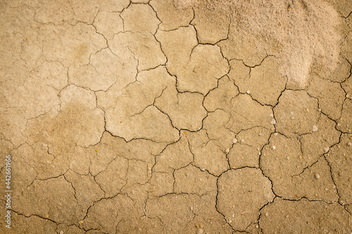 Cracked and dry soil background Fotobehang