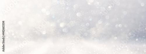 Fotografie, Obraz abstract glitter silver and gild lights background. de-focused