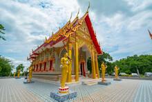 Wat Tham Fad Temple At Kanchanaburi, Thailand