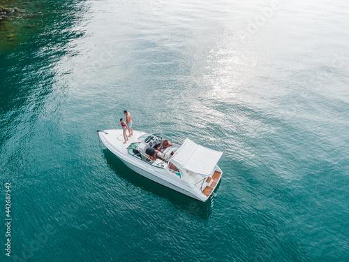 Fotografia Baeutiful boat cruise on the Lake Lucerne Switzerland