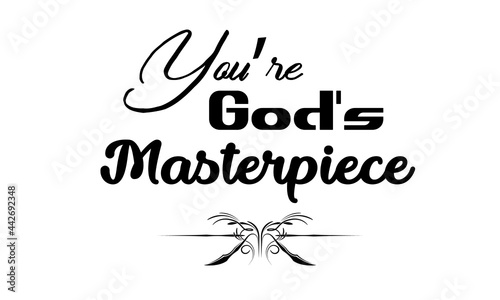 Leinwand Poster You are God's masterpiece, Gospel Verses, Christian Poster, Inspirational Quote,