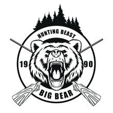Hunting Bear Logo