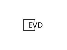 EVD Letter Initial Logo Design Vector Illustration