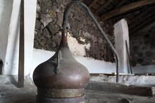 Azores Old Wine Stills Caldron Hood Condensation Serpentine Tube