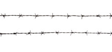 Black Barbed Wire Fence. Security, Isolated