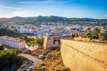 View Of The City Of Elvissa In Ibiza, Spain
