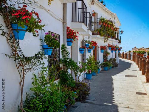 Fototapeta Mijas village in Andalusia with white houses, Spain