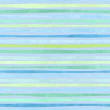 Seamless Pattern With Vibrant Blue And Green Stripes