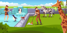 Zoo Animals Zookeepers Composition