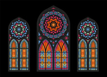 Cathedral Mosaic Windows Background