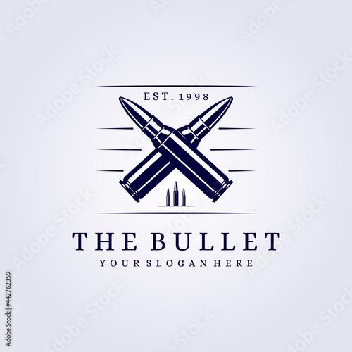 cross bullet logo vintage abstract modern vector illustration design Fototapet