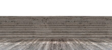Stairs Concrete Isolated On White Background.with Clipping Path