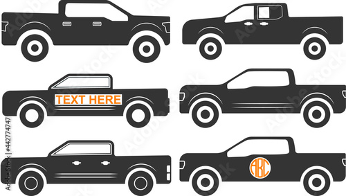 Obraz na plátně Ford 150 vector, Ford 150 sign symbol icon vector , Ford 150 silhouette